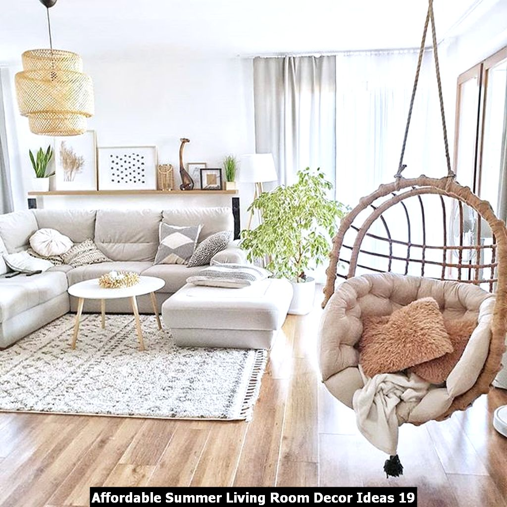Affordable Summer Living Room Decor Ideas 19