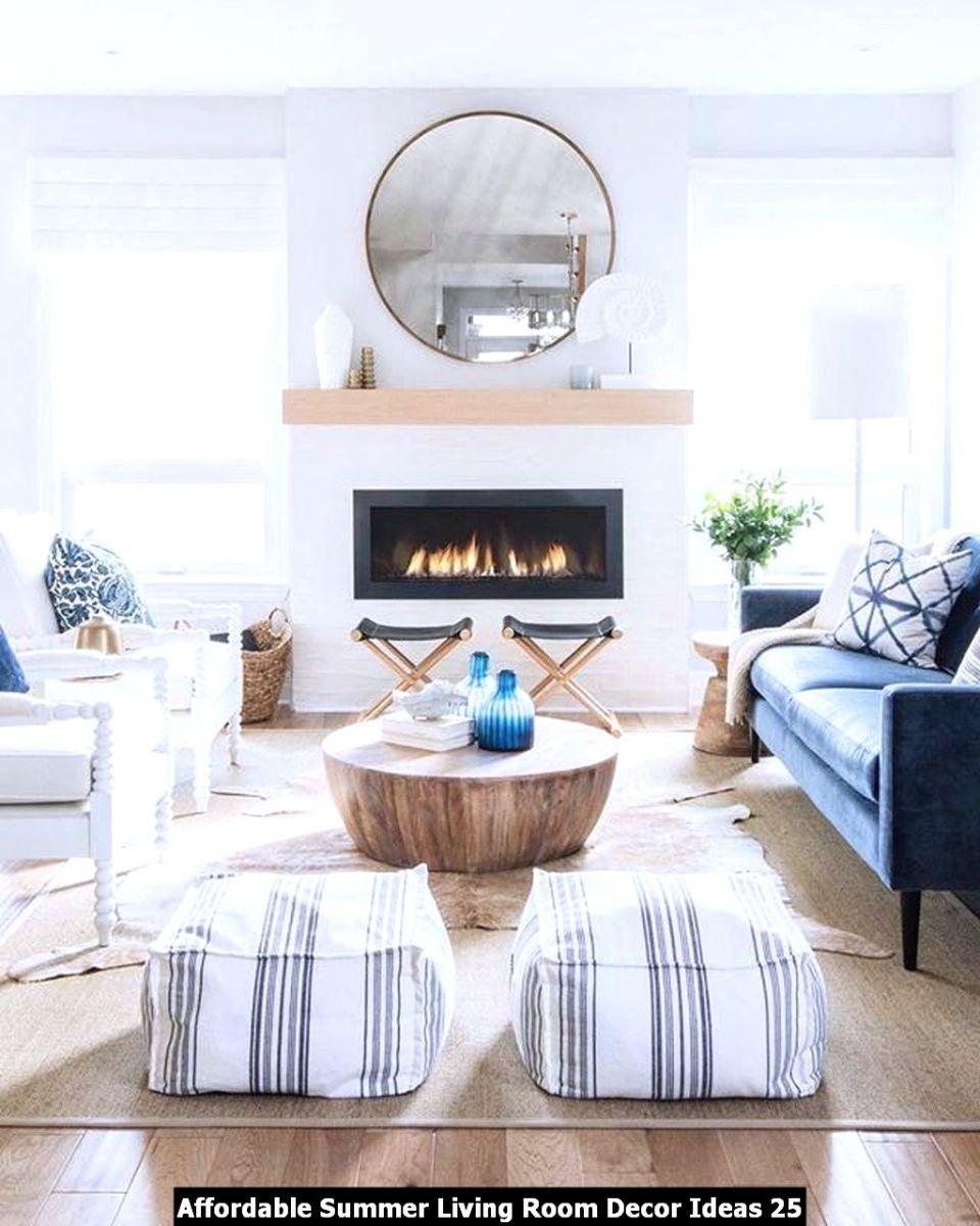 Affordable Summer Living Room Decor Ideas 25