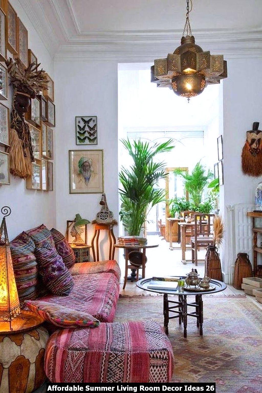 Affordable Summer Living Room Decor Ideas 26