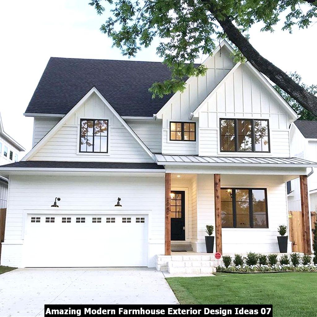 Amazing Modern Farmhouse Exterior Design Ideas 07