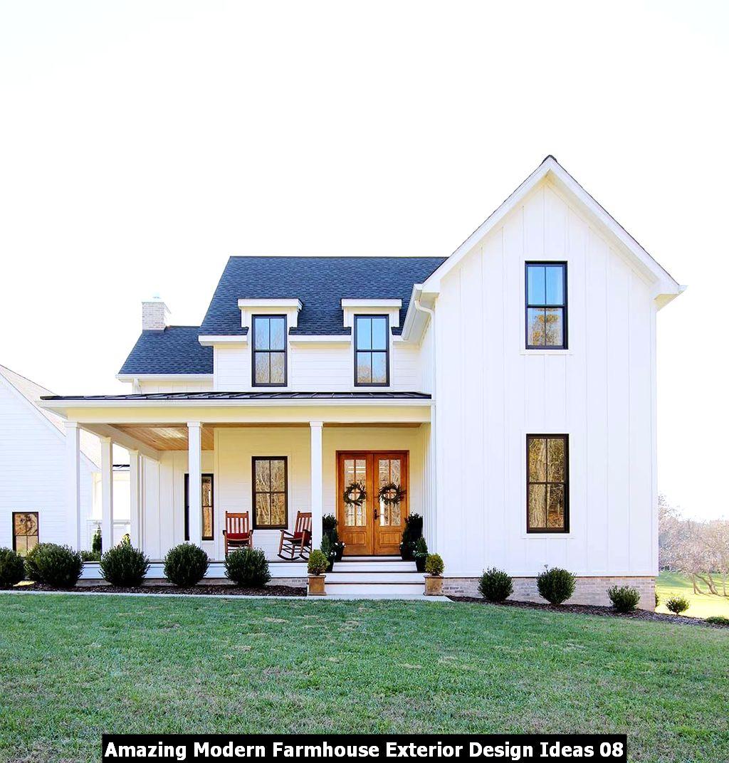 Amazing Modern Farmhouse Exterior Design Ideas 08