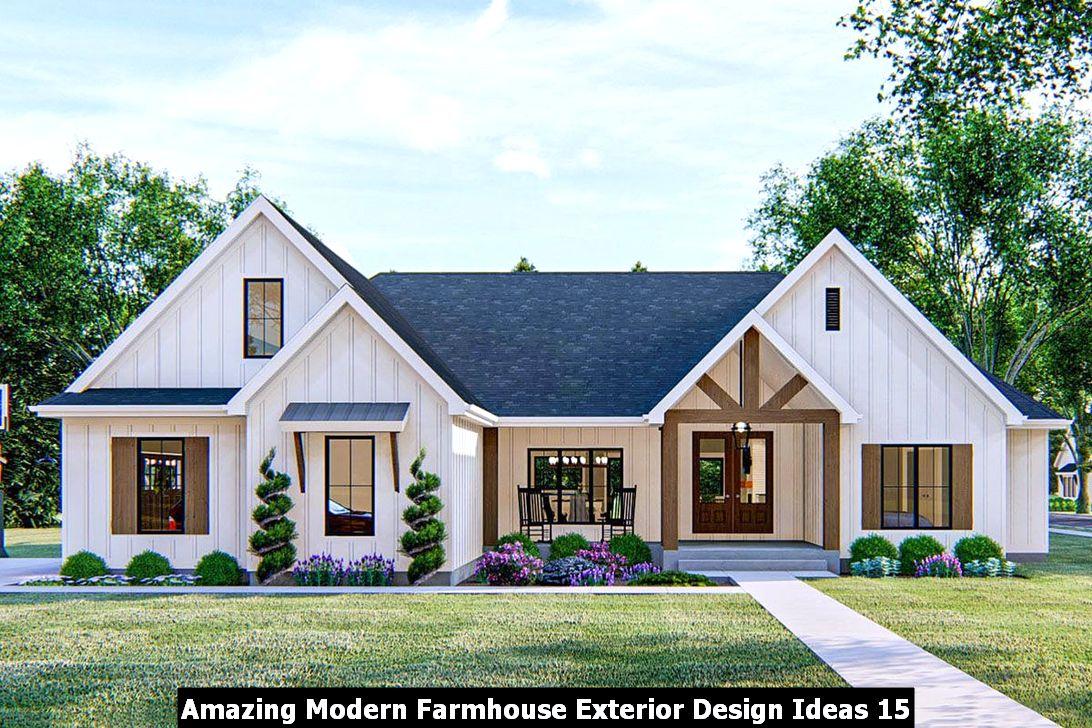Amazing Modern Farmhouse Exterior Design Ideas 15