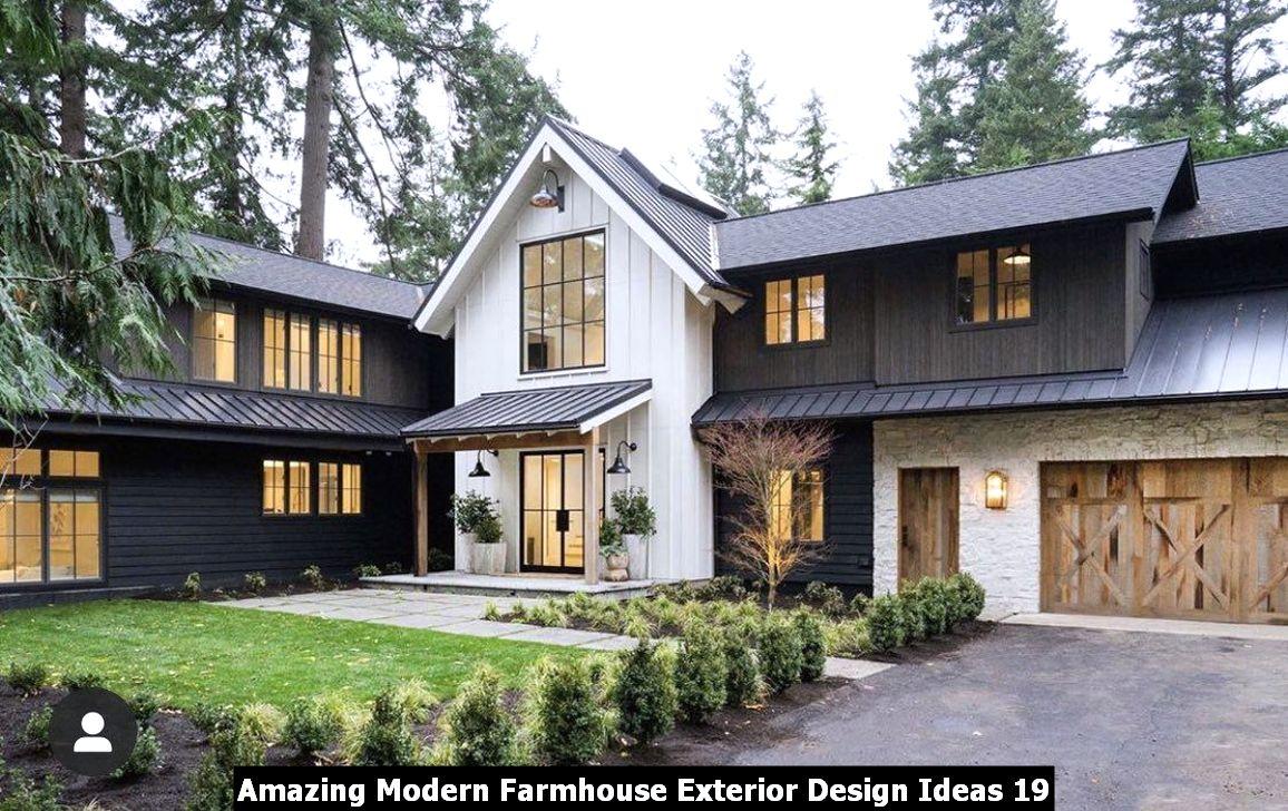 Amazing Modern Farmhouse Exterior Design Ideas 19