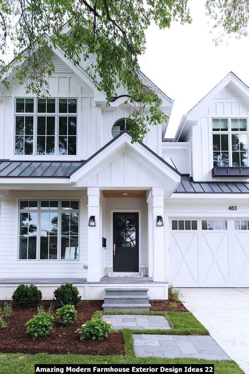 Amazing Modern Farmhouse Exterior Design Ideas 22