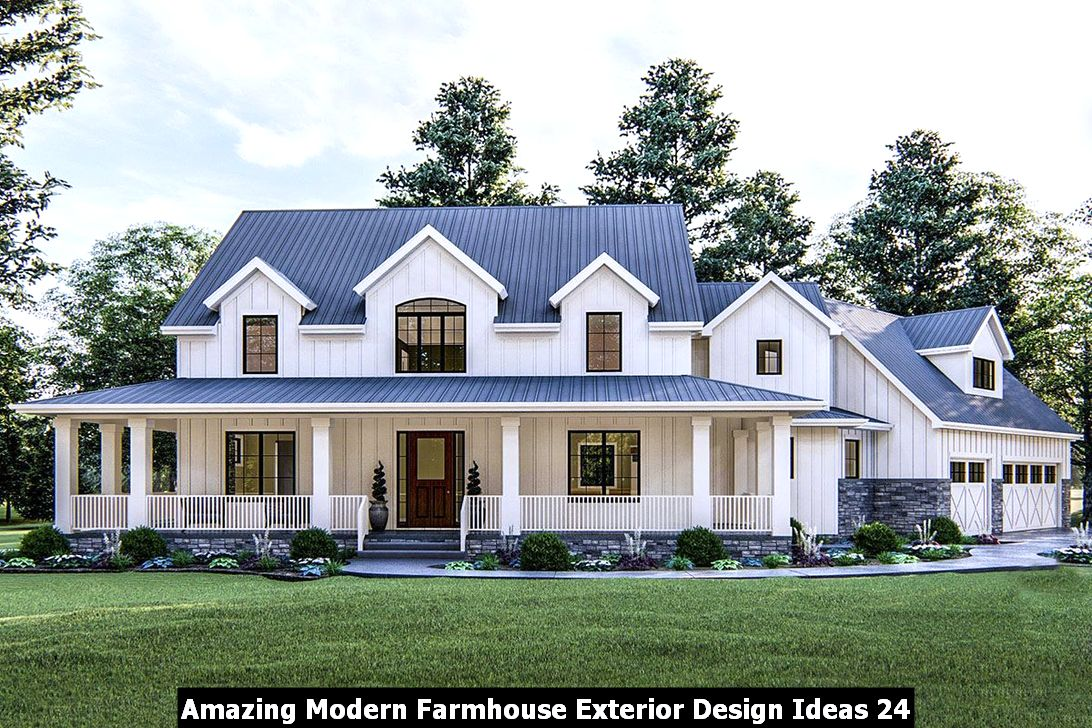 Amazing Modern Farmhouse Exterior Design Ideas 24