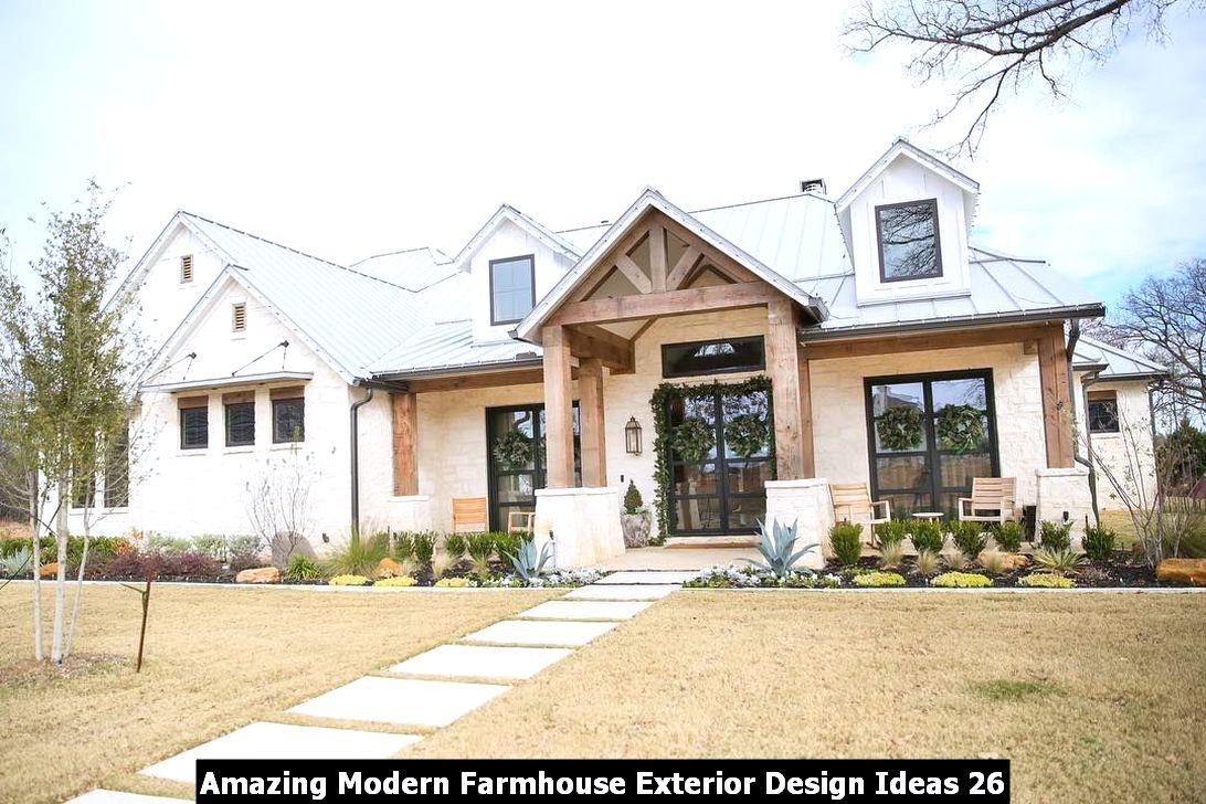Amazing Modern Farmhouse Exterior Design Ideas 26