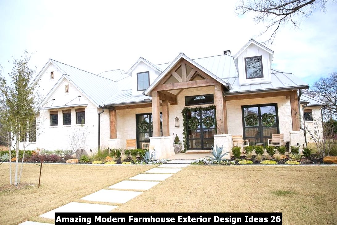 Amazing Modern Farmhouse Exterior Design Ideas 26