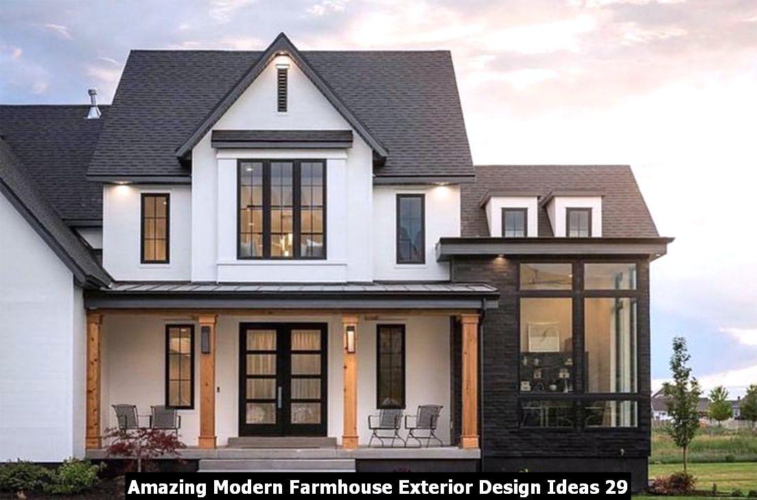 Amazing Modern Farmhouse Exterior Design Ideas 29