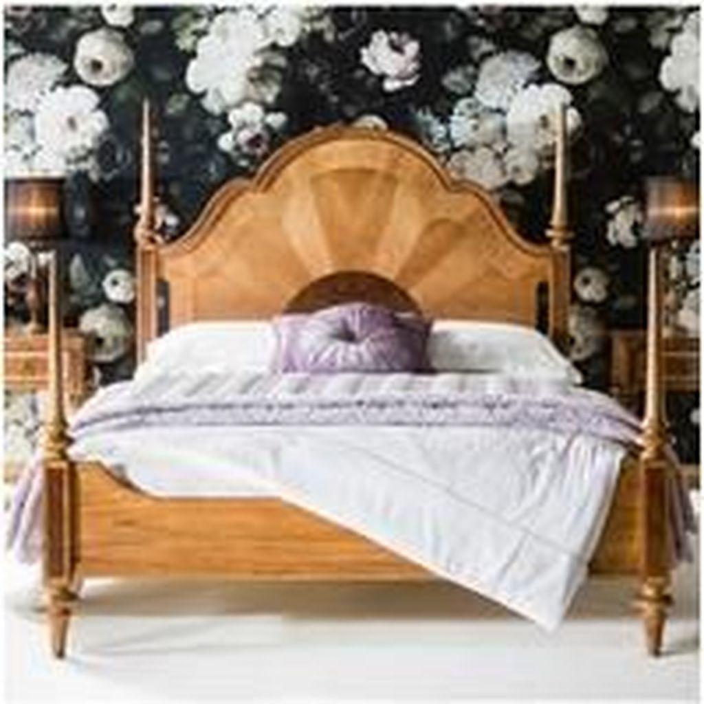 Amazing Vintage Wooden Bed Frame Design Ideas 13