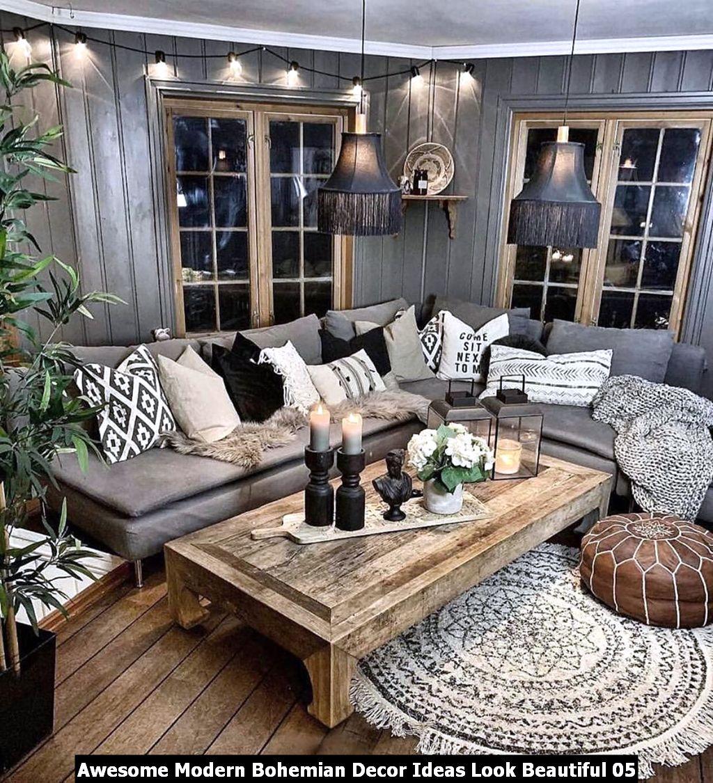 Awesome Modern Bohemian Decor Ideas Look Beautiful 05