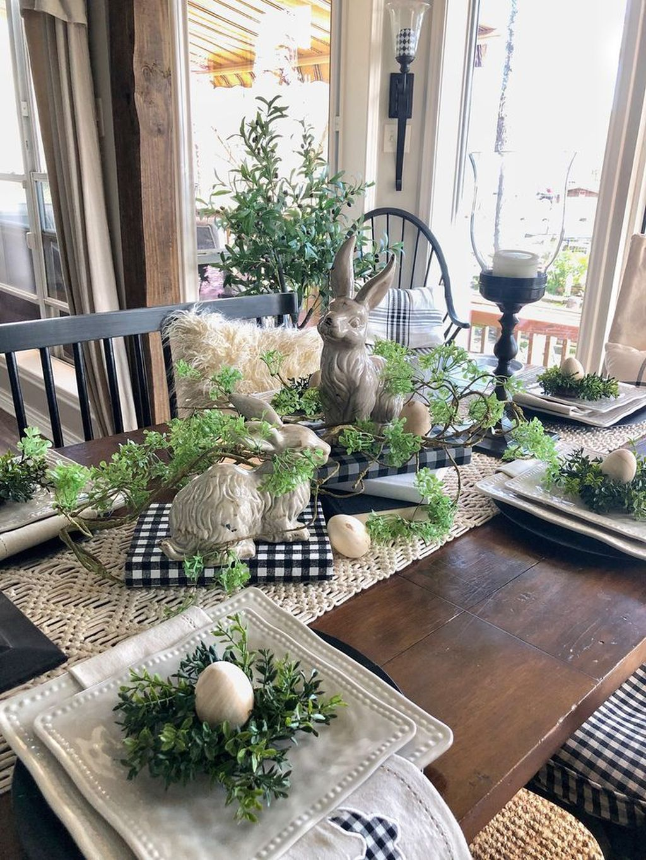 Beautiful Farmhouse Spring Table Decor Ideas 10