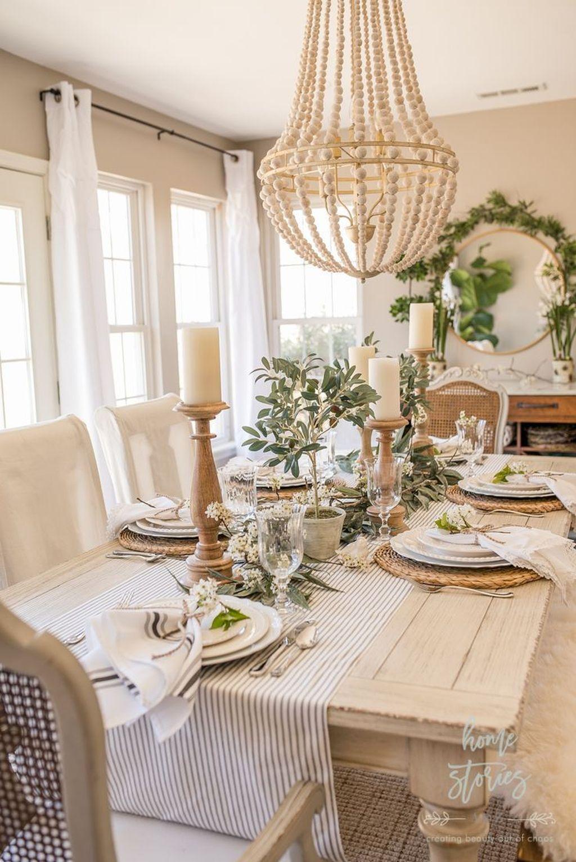 Beautiful Farmhouse Spring Table Decor Ideas 21