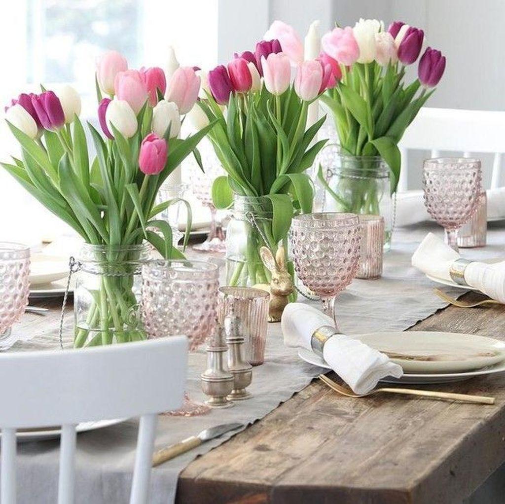 Beautiful Farmhouse Spring Table Decor Ideas 23