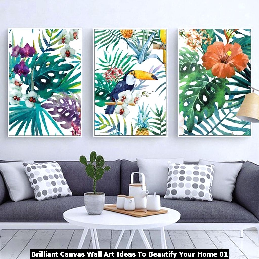 Brilliant Canvas Wall Art Ideas To Beautify Your Home 01