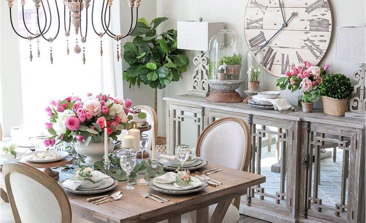 Brilliant French Dining Room Decor Ideas 19