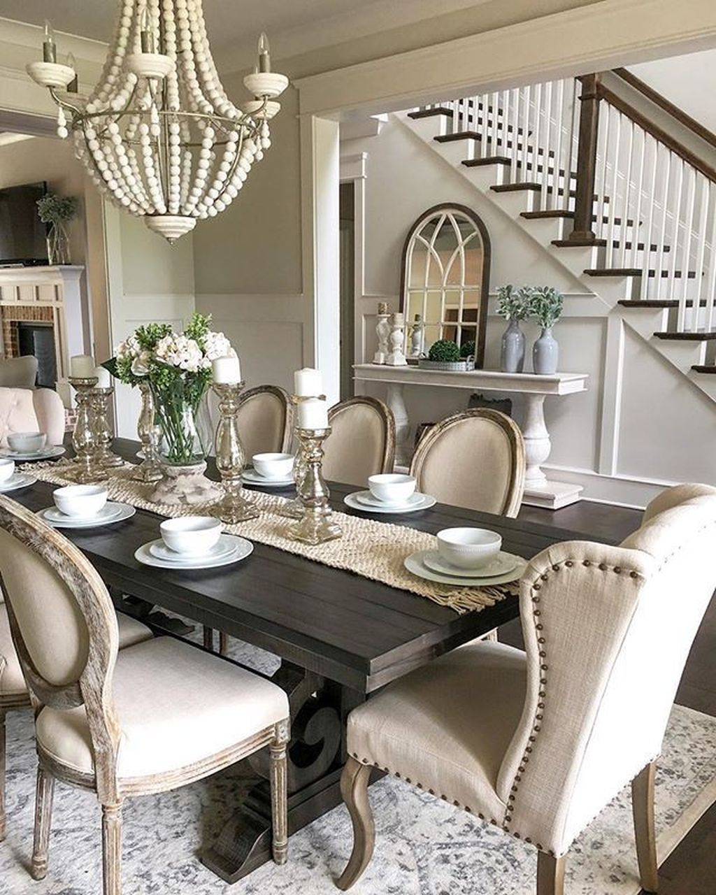 Brilliant French Dining Room Decor Ideas 20