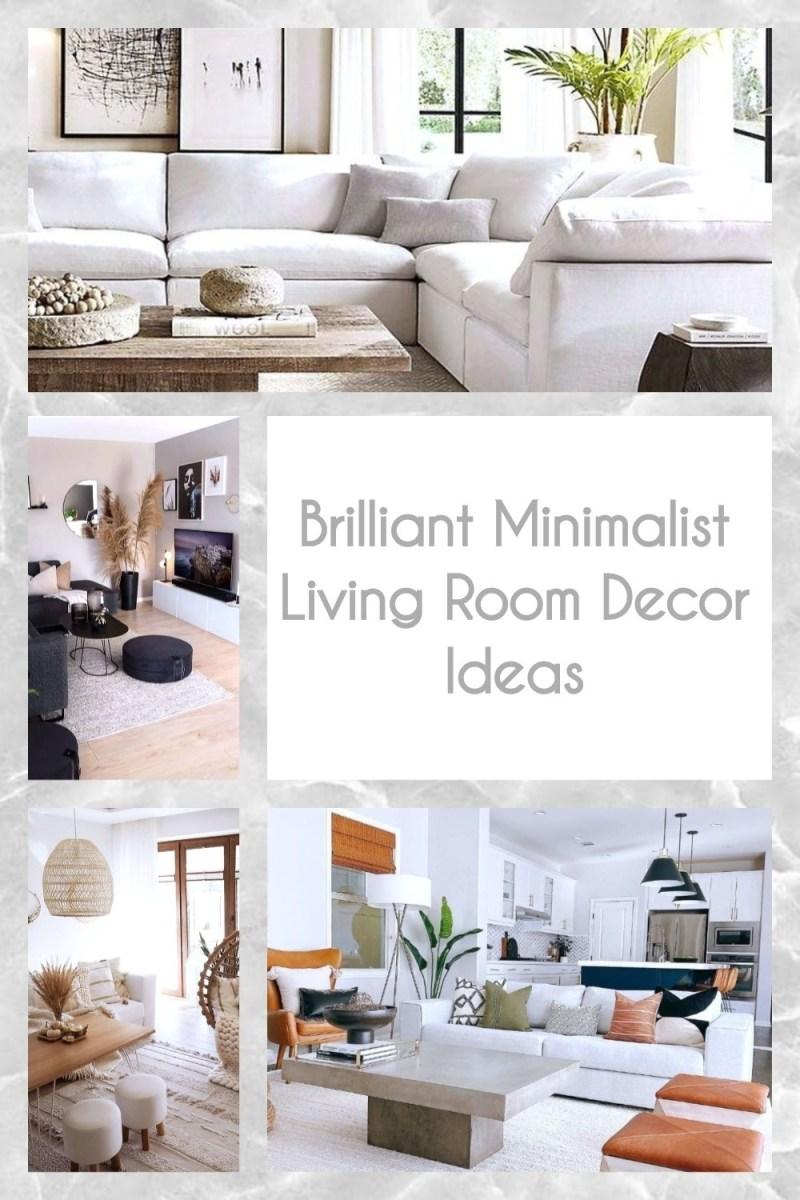 Brilliant Minimalist Living Room Decor Ideas
