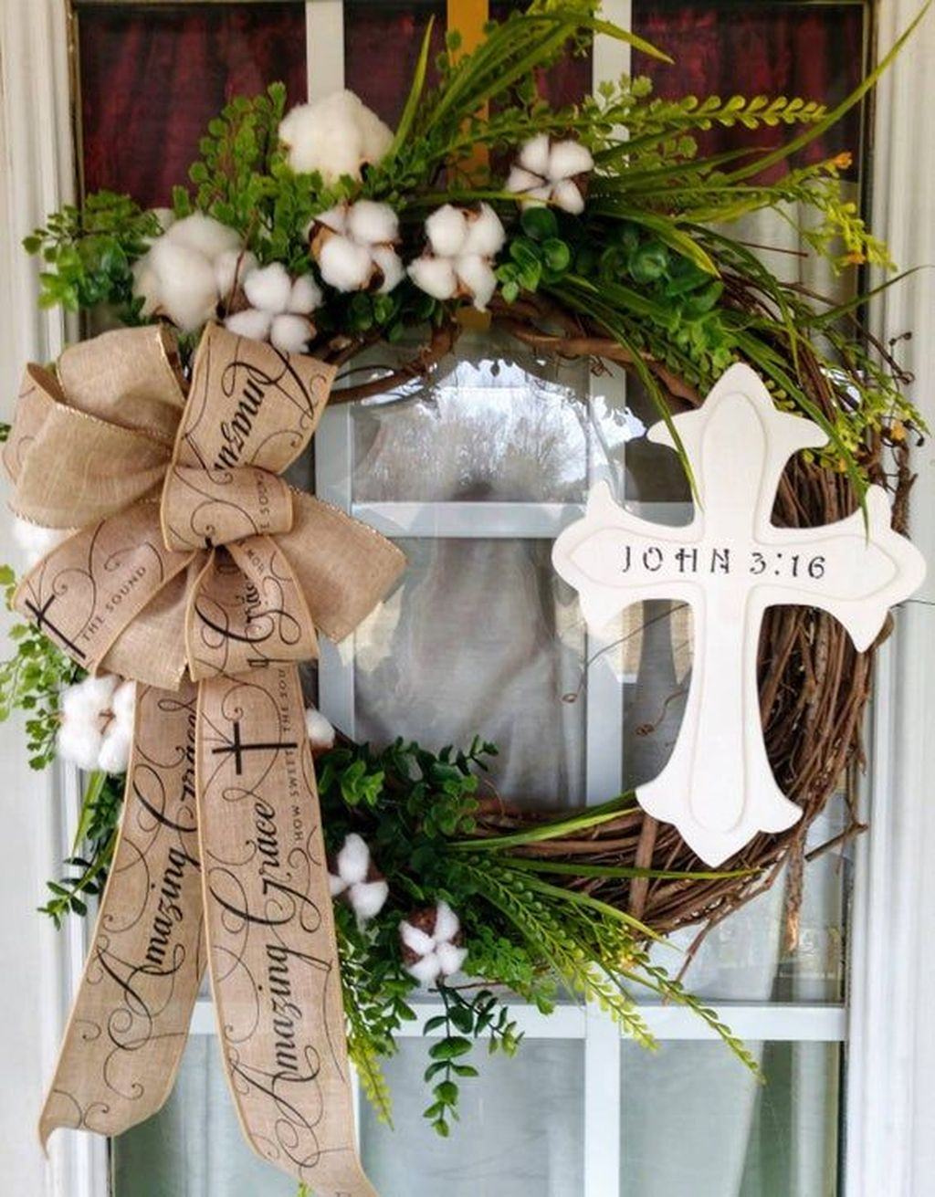 Brilliant Spring Door Wreaths Design Ideas 05