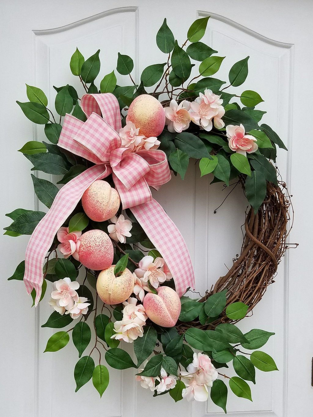 Brilliant Spring Door Wreaths Design Ideas 06