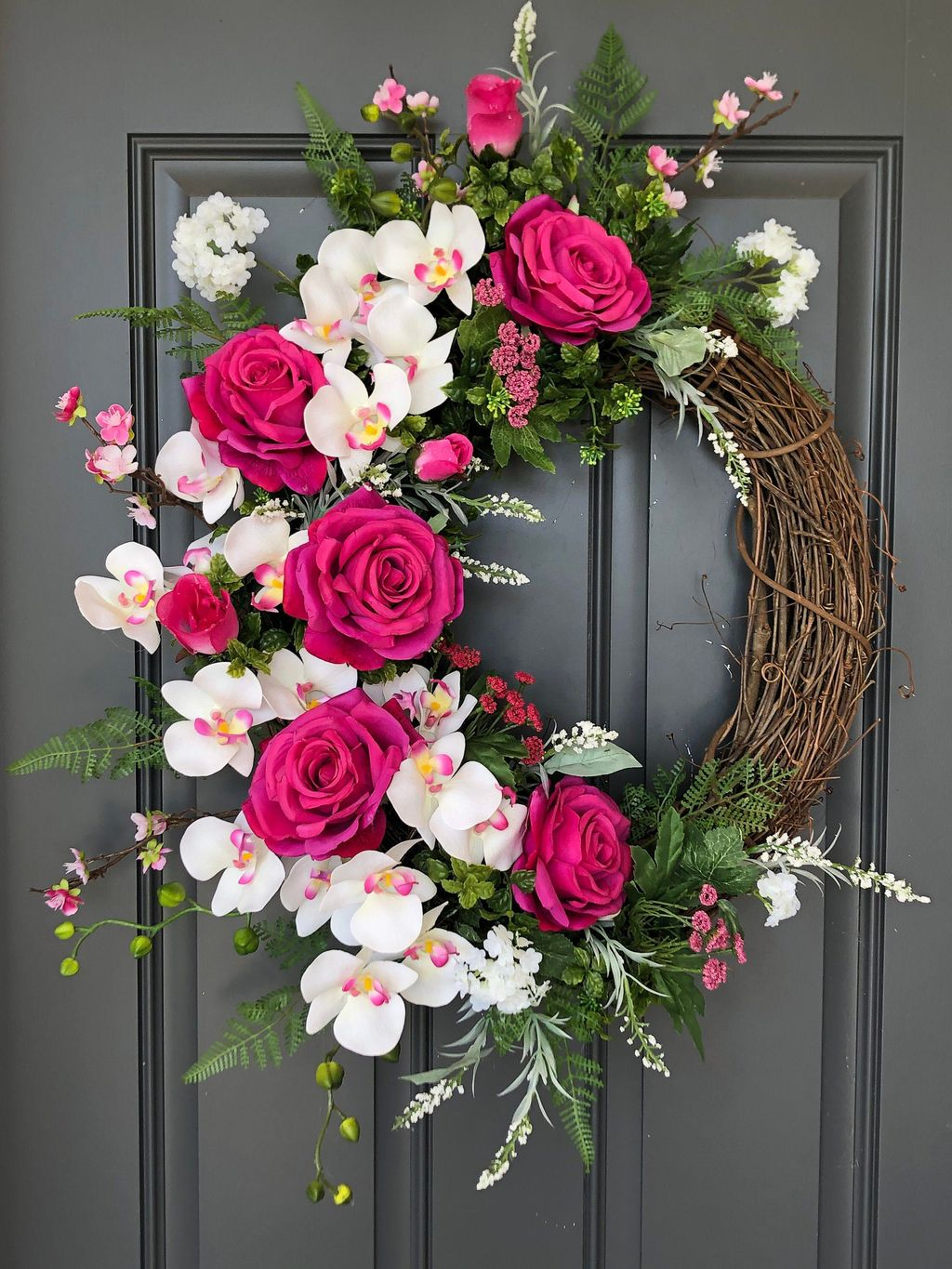 Brilliant Spring Door Wreaths Design Ideas 25