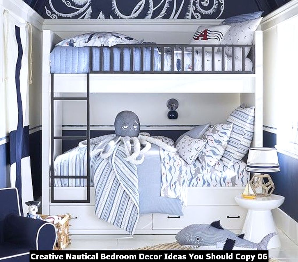 Creative Nautical Bedroom Decor Ideas You Should Copy 06