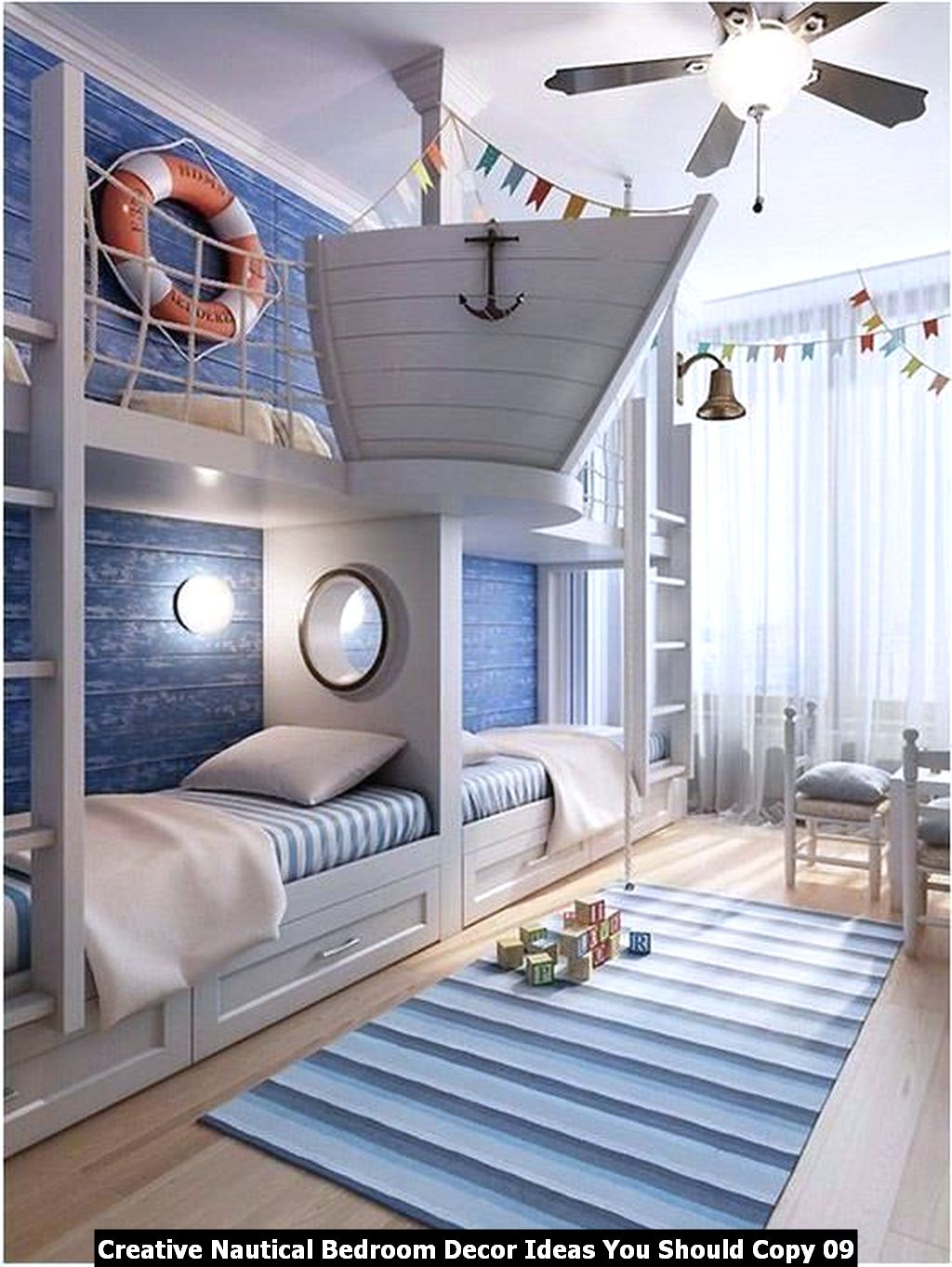 Creative Nautical Bedroom Decor Ideas You Should Copy 09