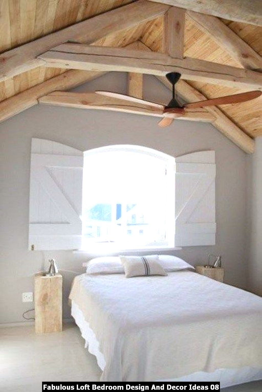 Fabulous Loft Bedroom Design And Decor Ideas 08