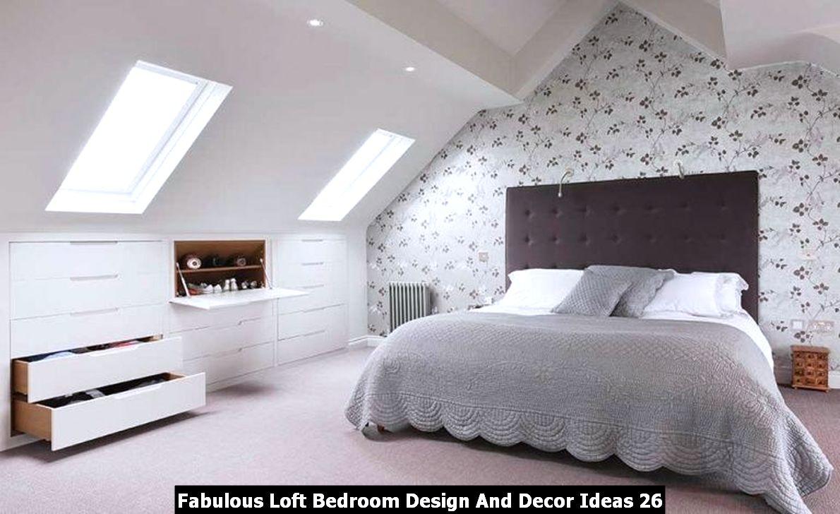Fabulous Loft Bedroom Design And Decor Ideas 26