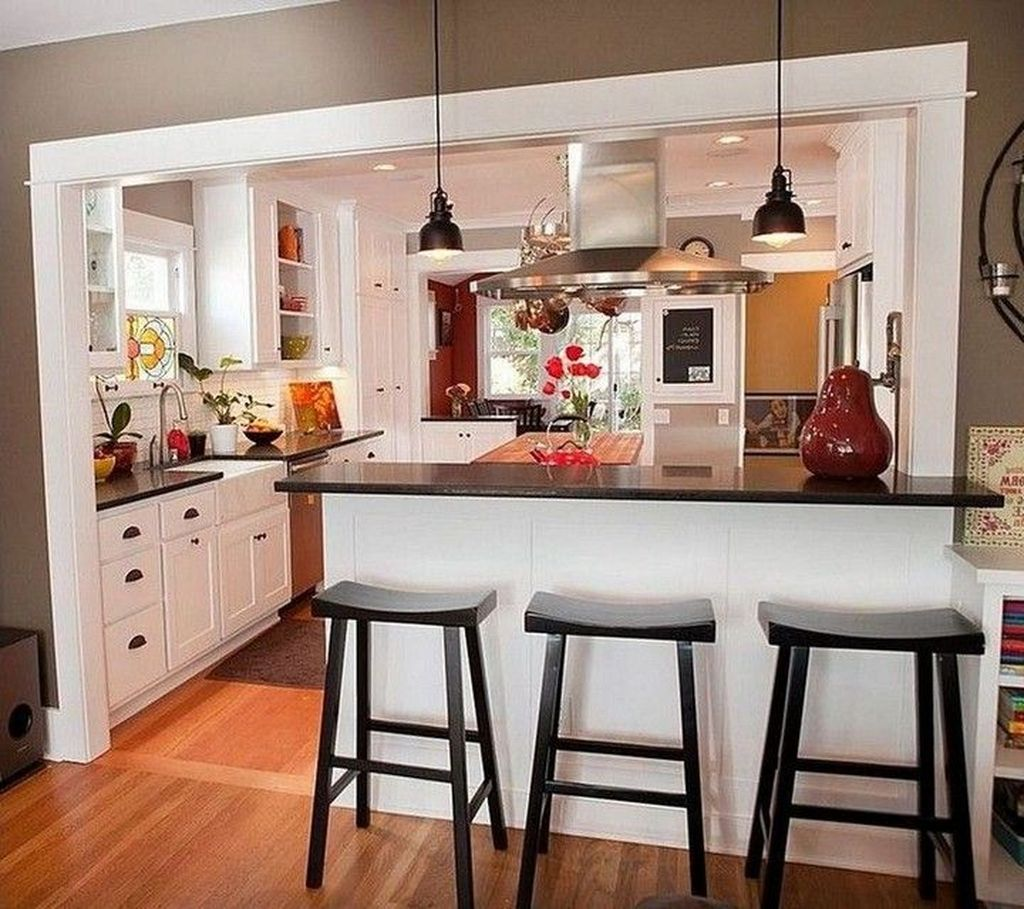 Gorgeous Small Kitchen And Dining Room Design Ideas 19
