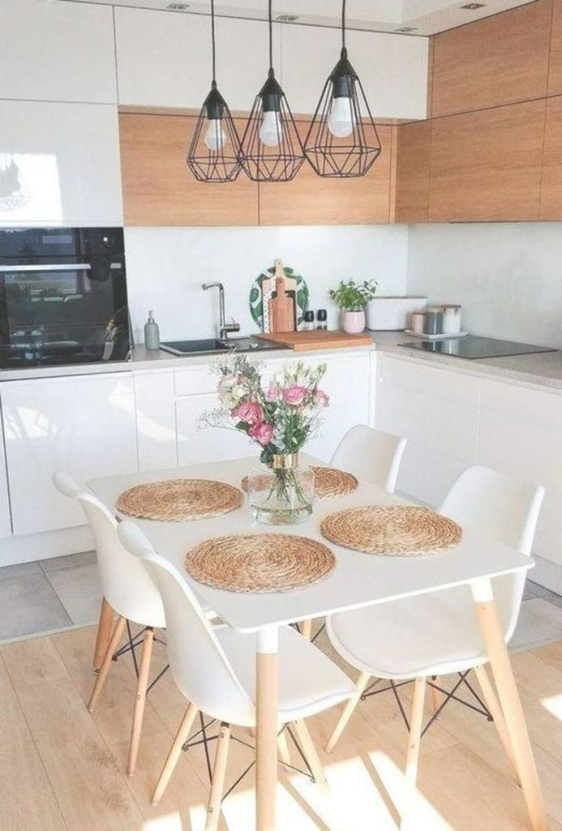 Gorgeous Small Kitchen And Dining Room Design Ideas 28