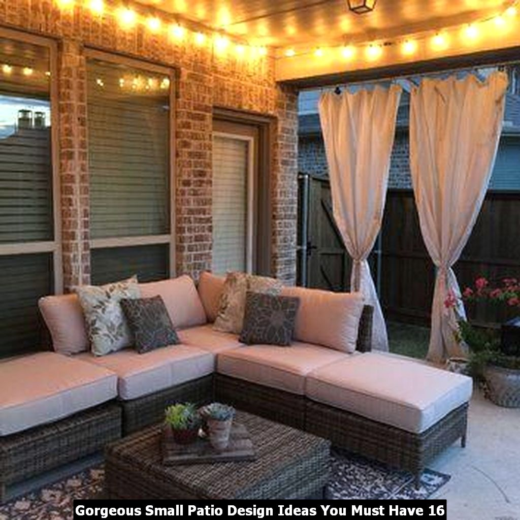 Gorgeous Small Patio Design Ideas You Must Have 16