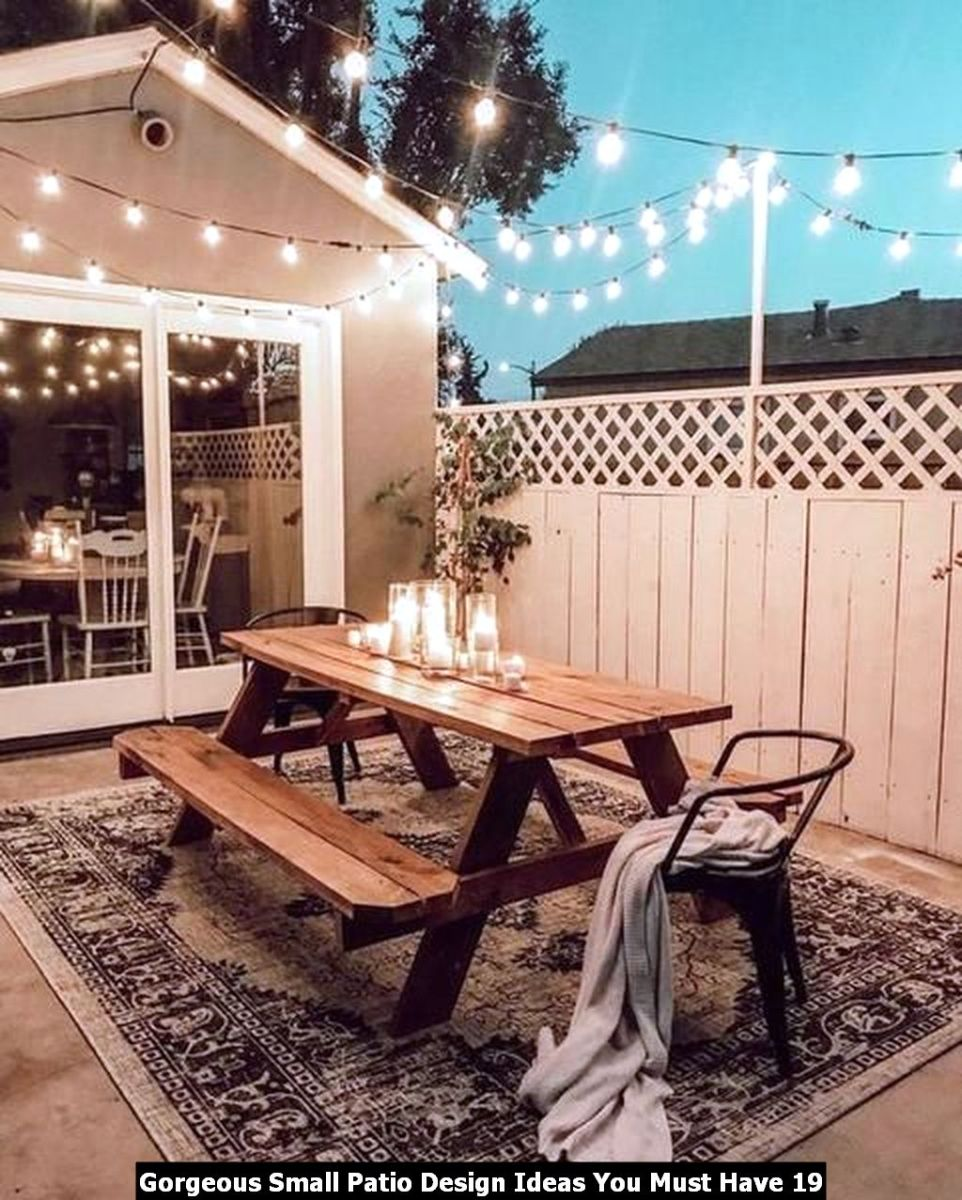 Gorgeous Small Patio Design Ideas You Must Have 19