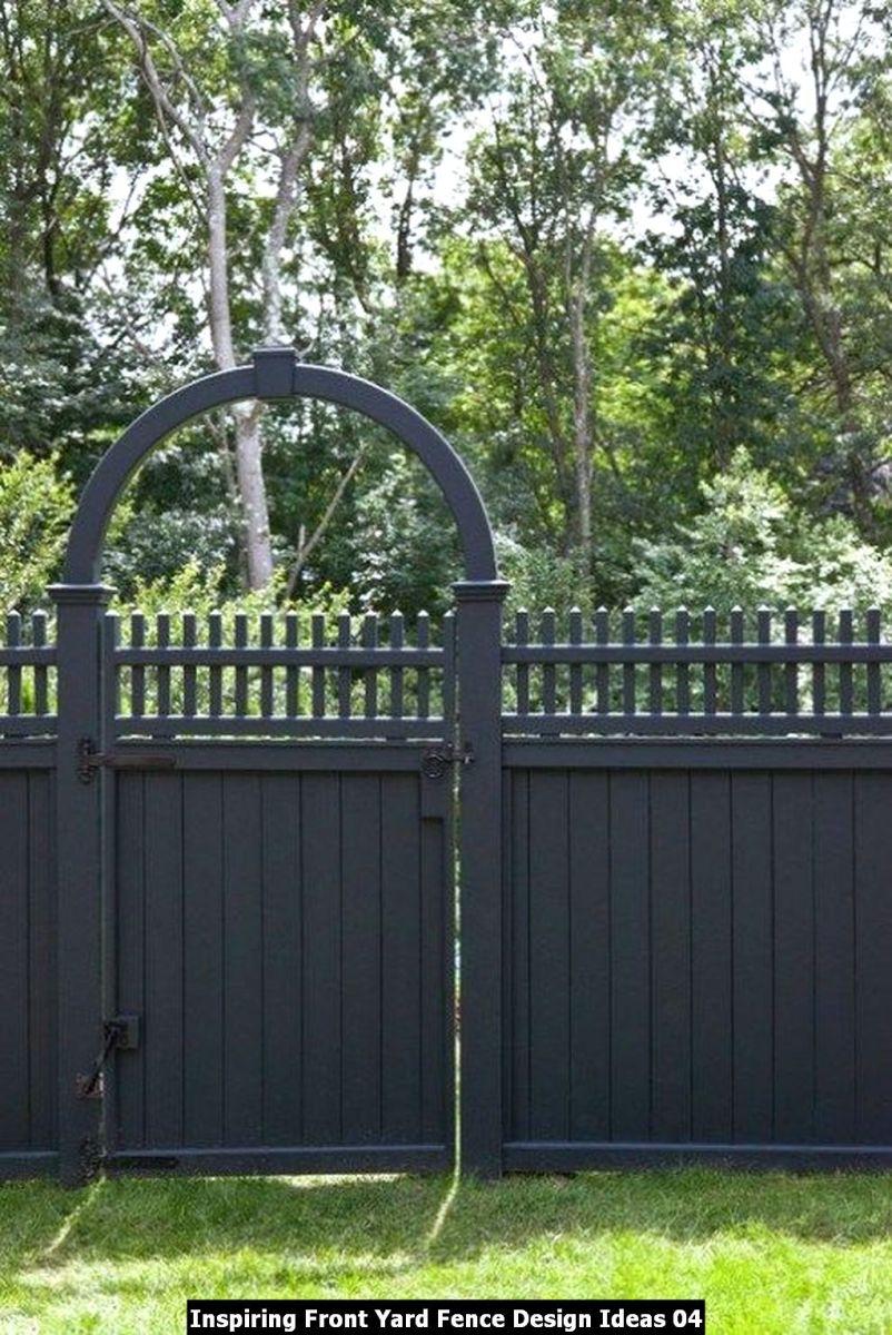 Inspiring Front Yard Fence Design Ideas 04