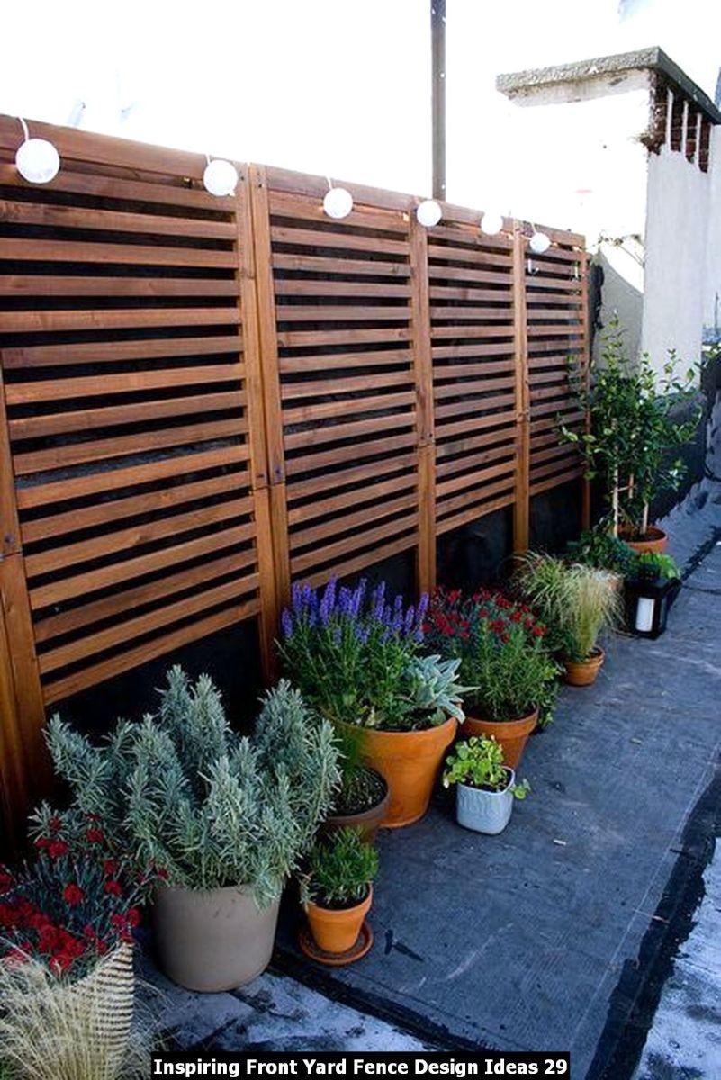 Inspiring Front Yard Fence Design Ideas 29