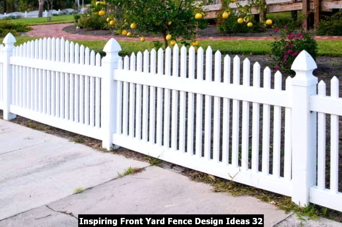 Inspiring Front Yard Fence Design Ideas 32