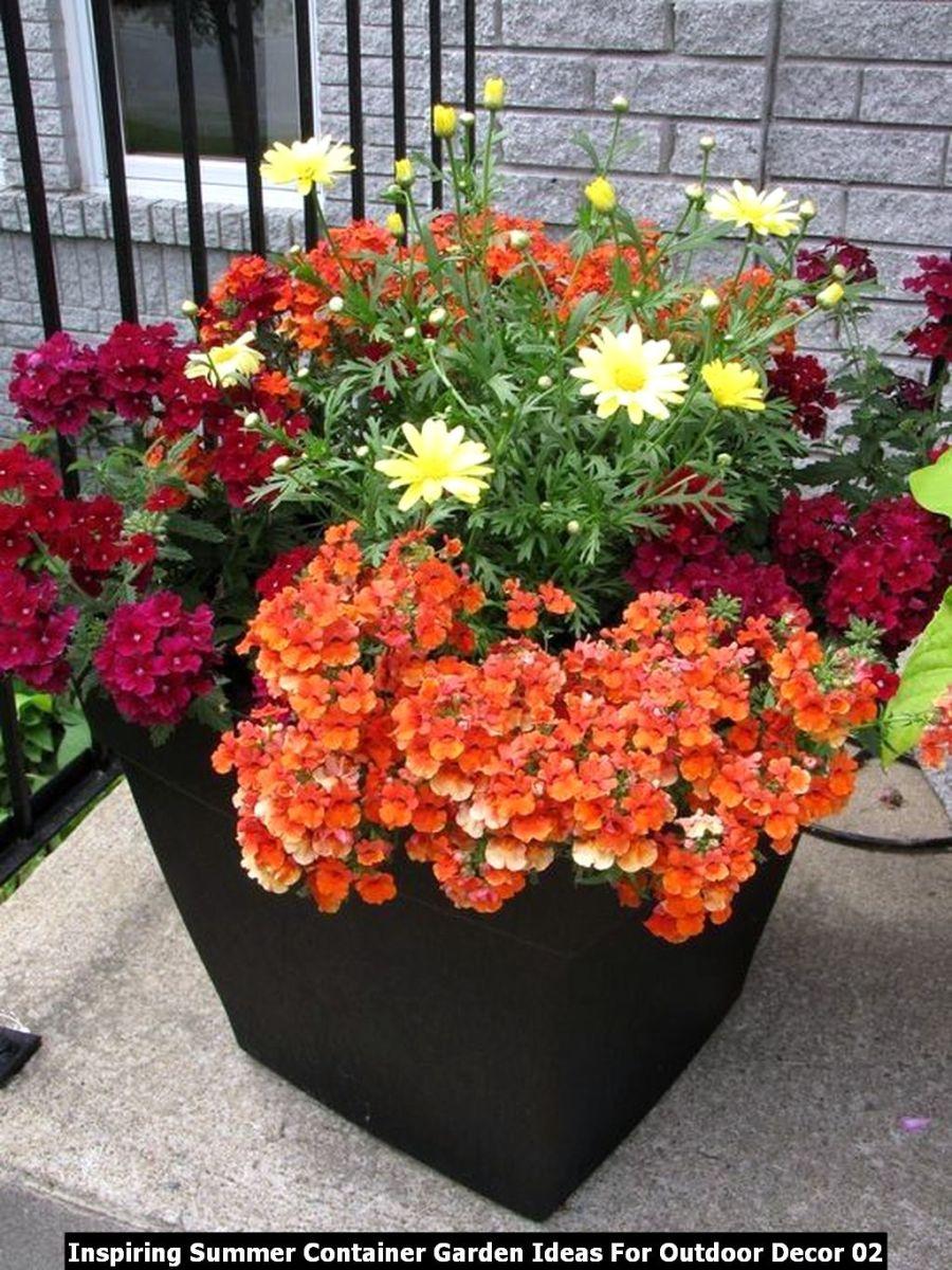 Inspiring Summer Container Garden Ideas For Outdoor Decor 02