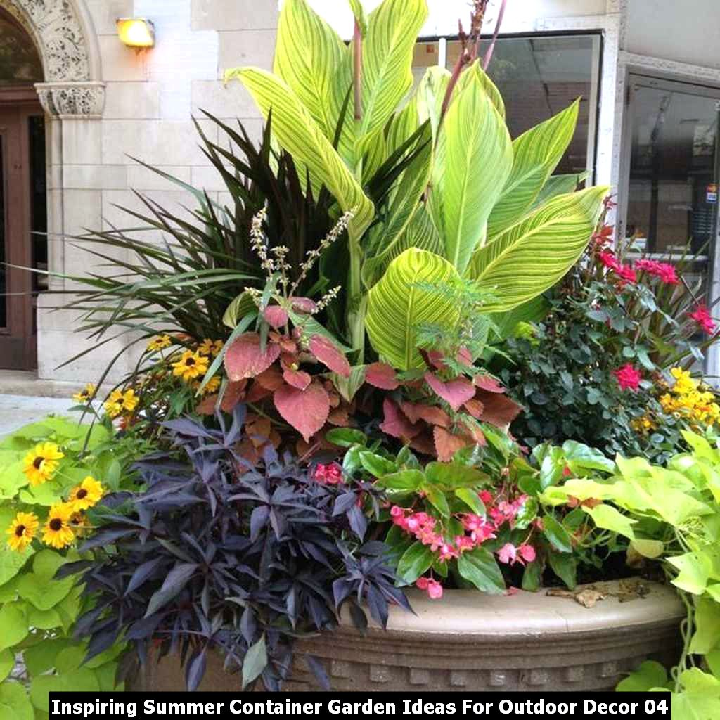 Inspiring Summer Container Garden Ideas For Outdoor Decor 04