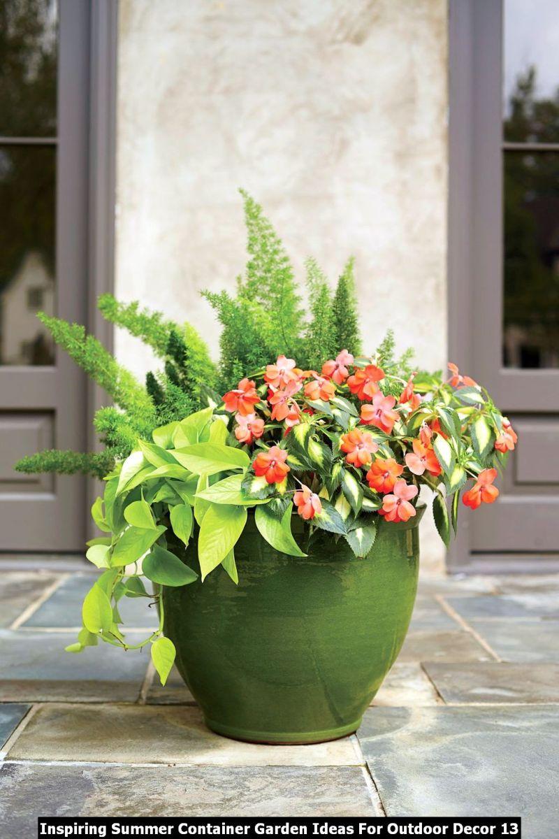 Inspiring Summer Container Garden Ideas For Outdoor Decor 13