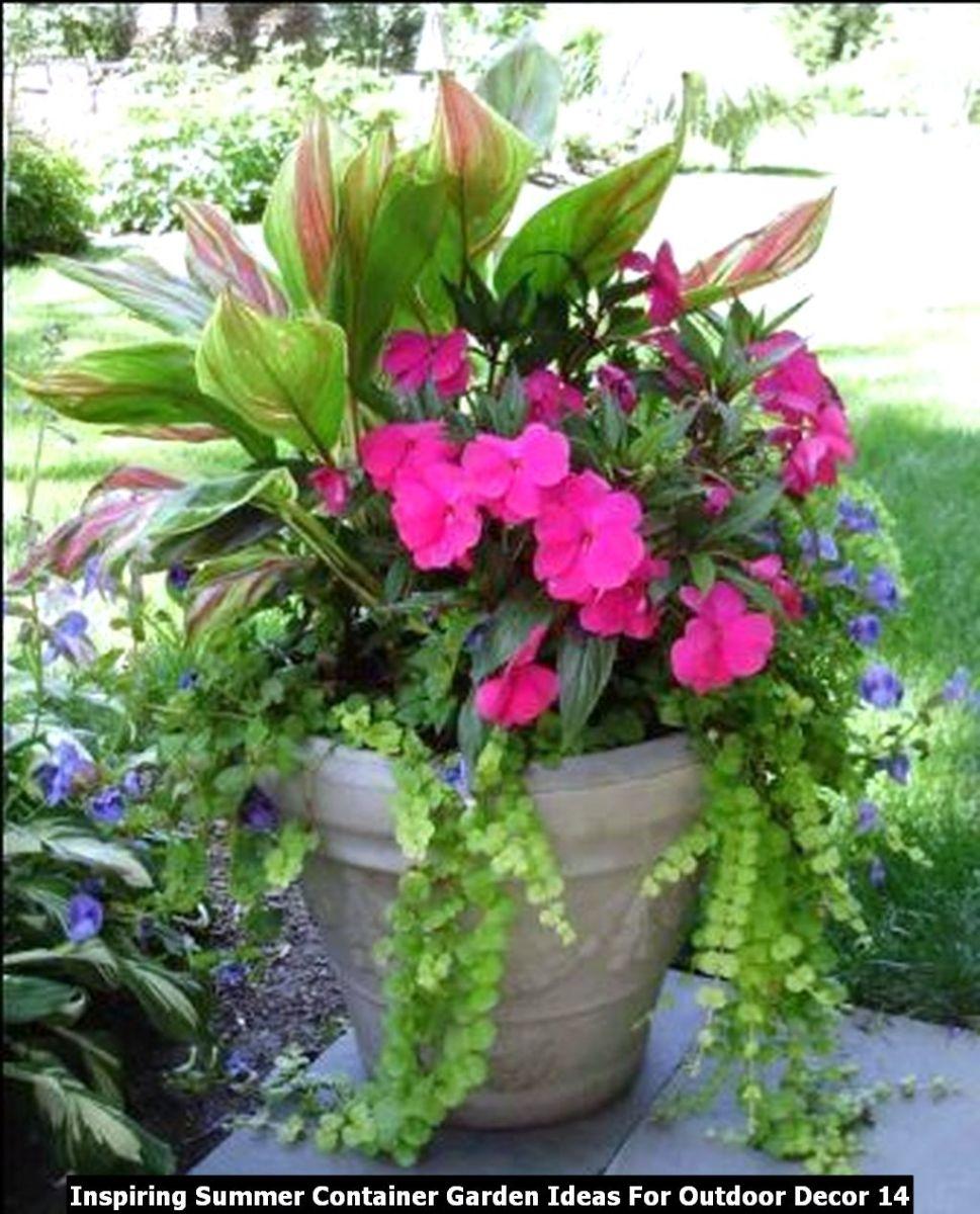 Inspiring Summer Container Garden Ideas For Outdoor Decor 14