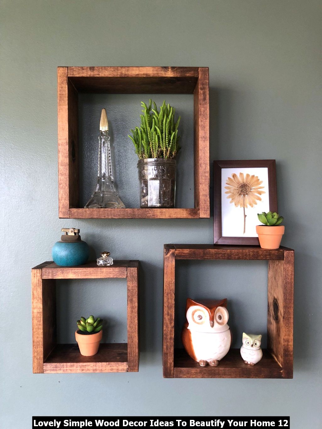 Lovely Simple Wood Decor Ideas To Beautify Your Home 12