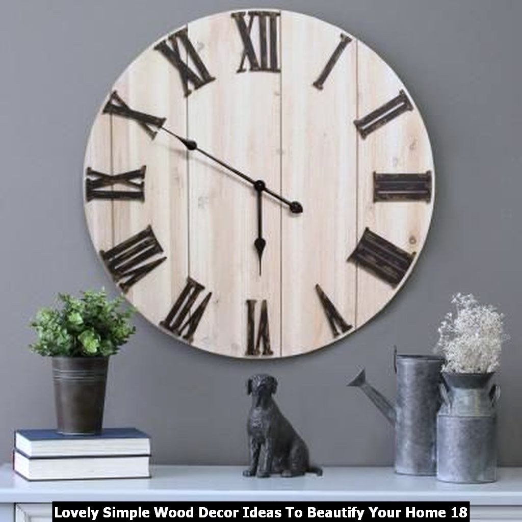 Lovely Simple Wood Decor Ideas To Beautify Your Home 18