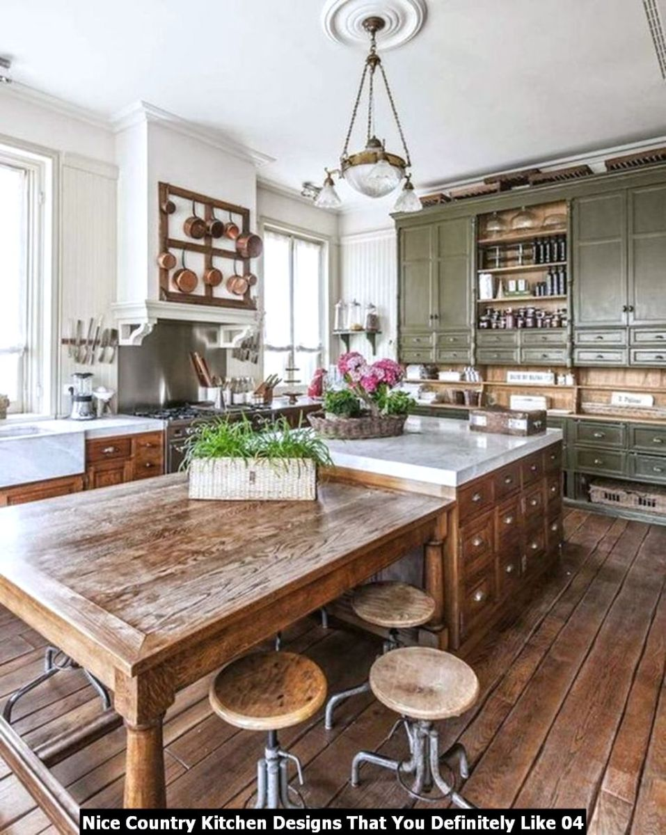 Nice Country Kitchen Designs That You Definitely Like 04