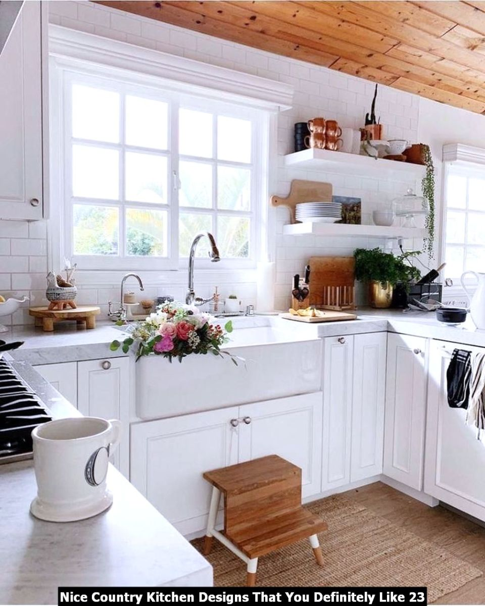 Nice Country Kitchen Designs That You Definitely Like 23