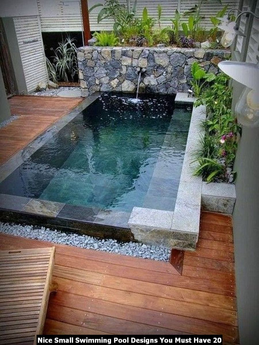 Nice Small Swimming Pool Designs You Must Have 20