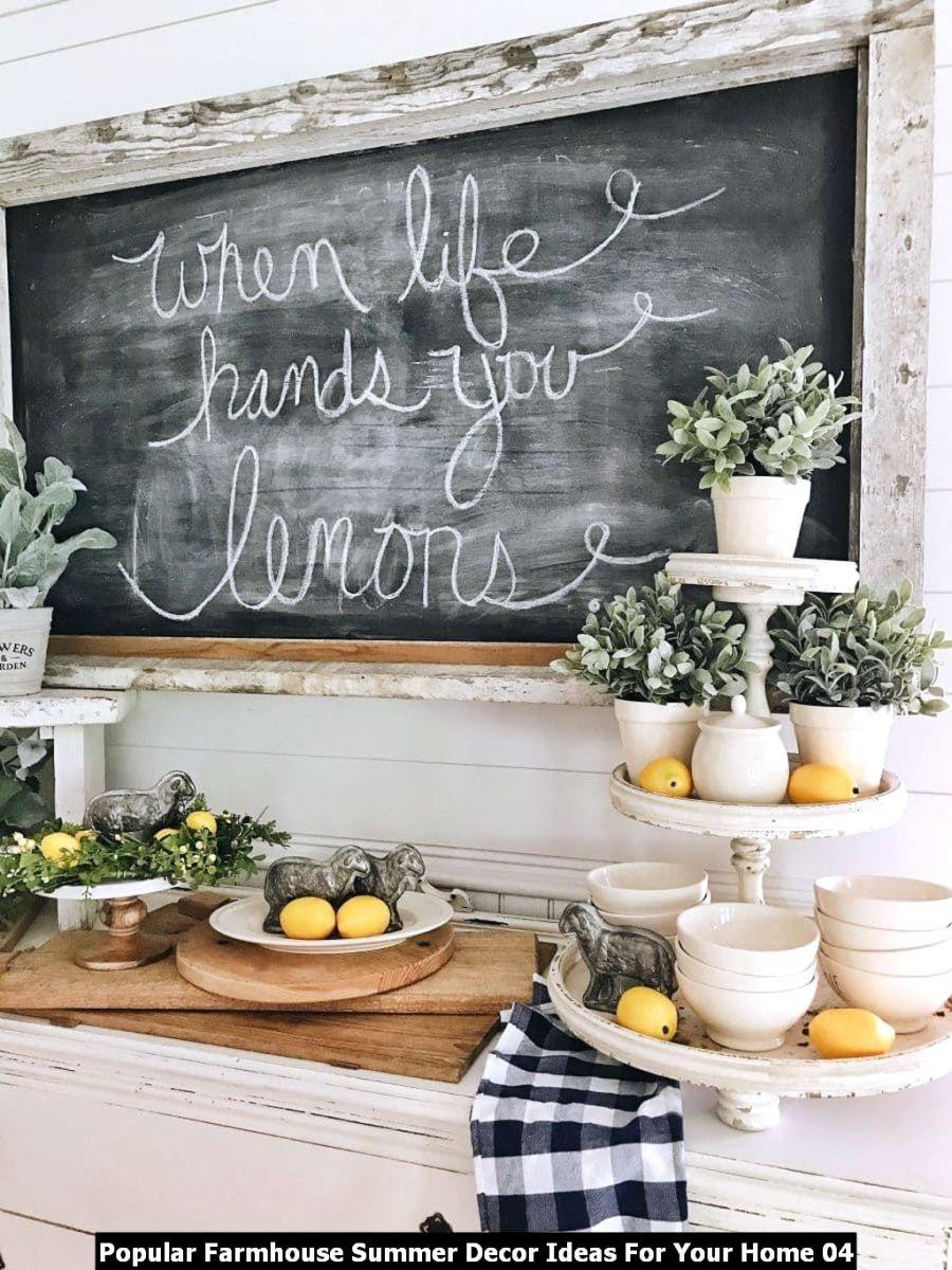 Popular Farmhouse Summer Decor Ideas For Your Home 04