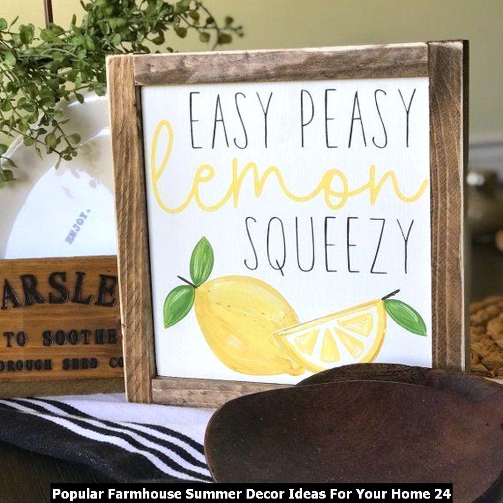 Popular Farmhouse Summer Decor Ideas For Your Home 24
