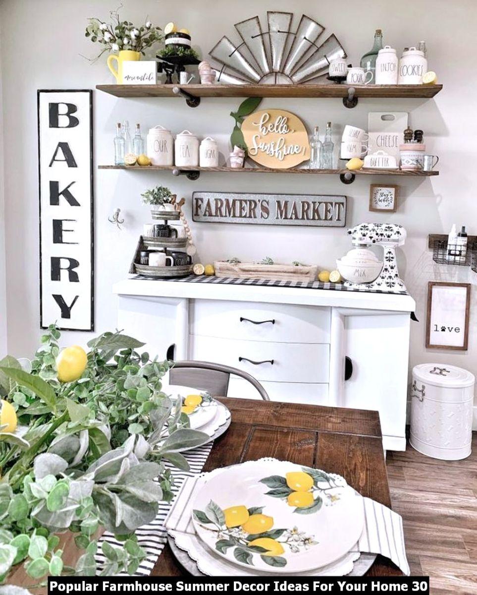 Popular Farmhouse Summer Decor Ideas For Your Home 30