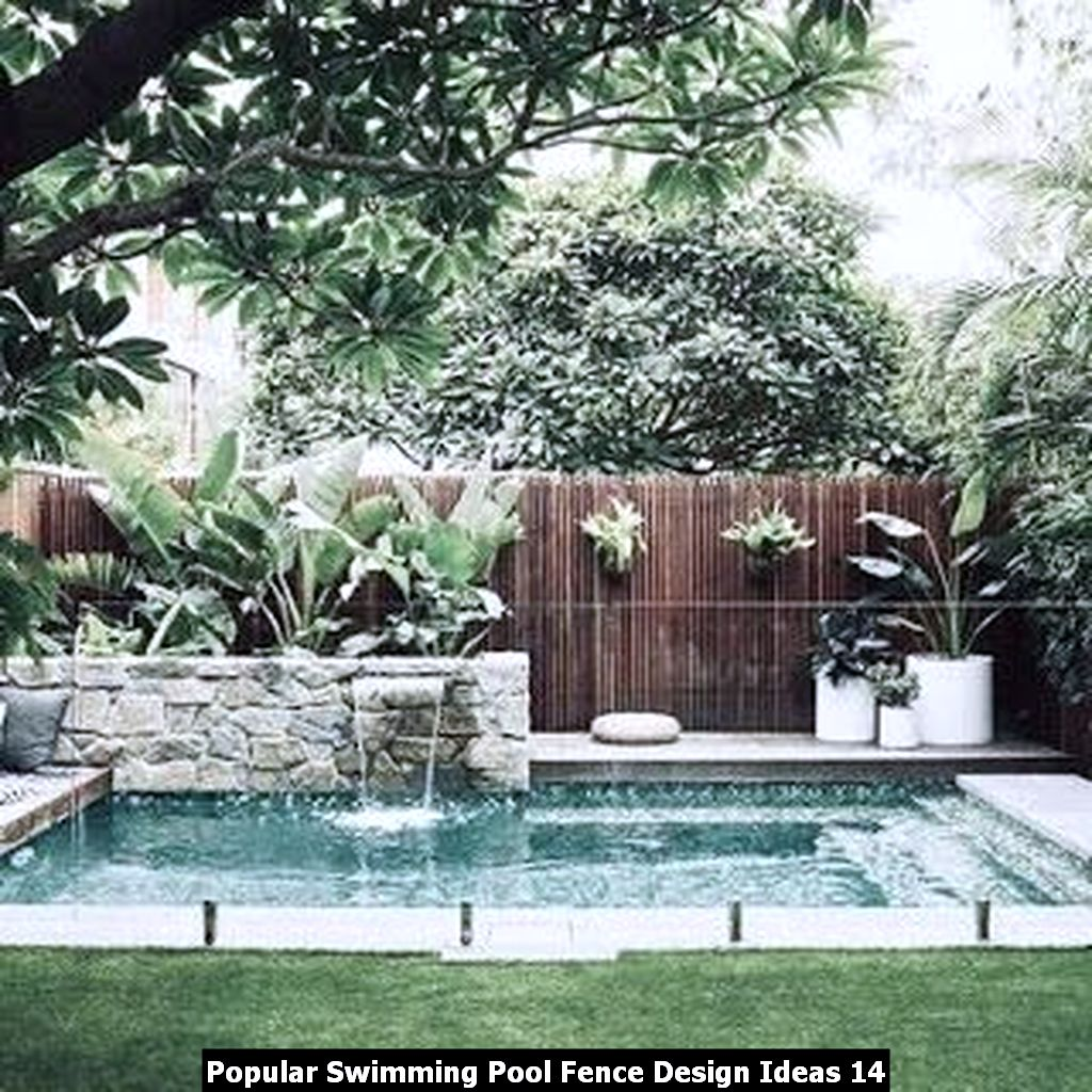 Popular Swimming Pool Fence Design Ideas 14