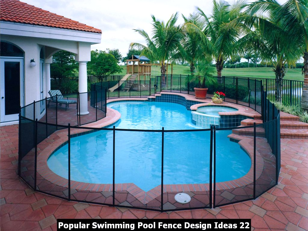 Popular Swimming Pool Fence Design Ideas 22