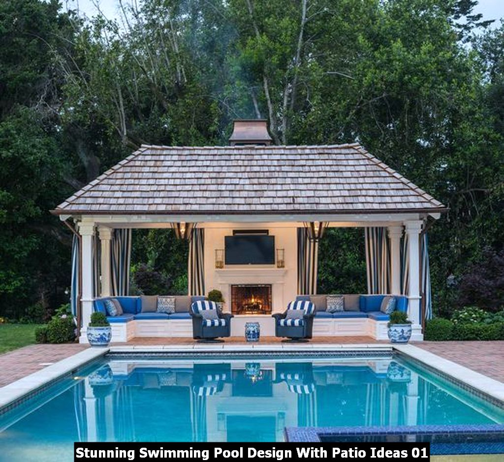 Stunning Swimming Pool Design With Patio Ideas 01